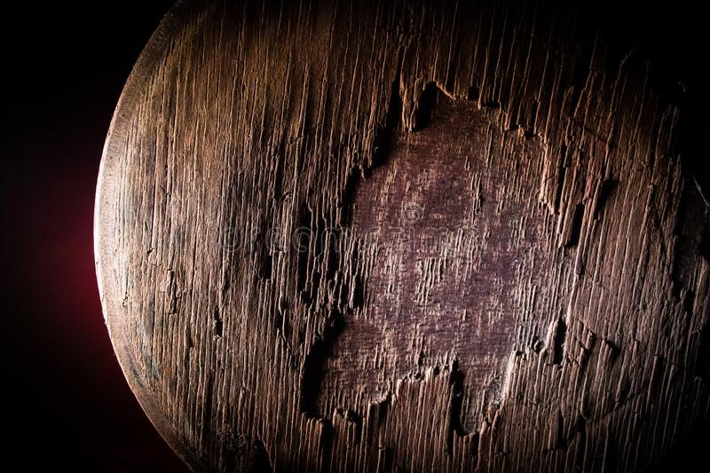 Dark vintage wood texture. Close up view of old grunge dark wooden surface. Selective stock photo