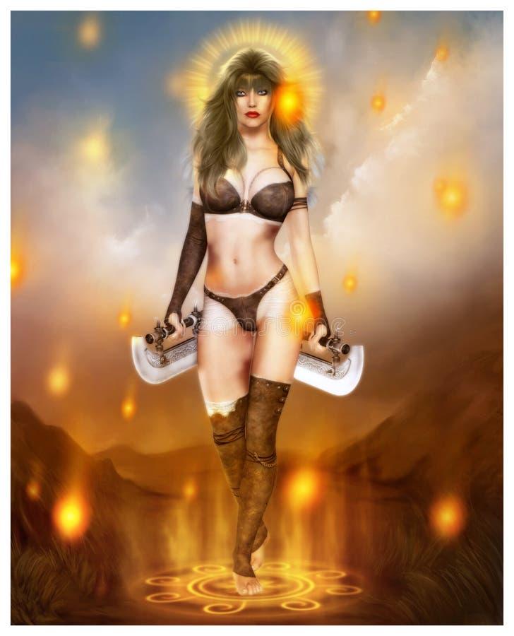 Dark Warrior royalty free illustration