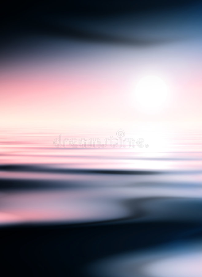 Download Dark water and pink sky stock illustration. Image of background - 2672742