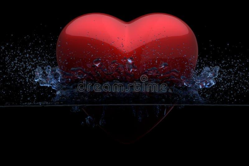 Dark waters of Love. Concept, 3D render stock illustration