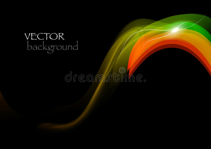 Download Dark wave stock vector. Image of creative, decoration - 24462336