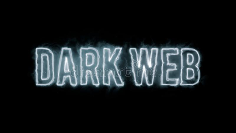 Dark web text stock photo