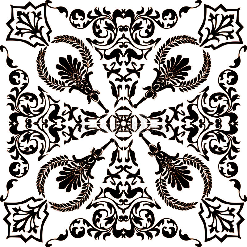 Download Dark And White Symmetric Ornament Stock Vector - Image: 12035838