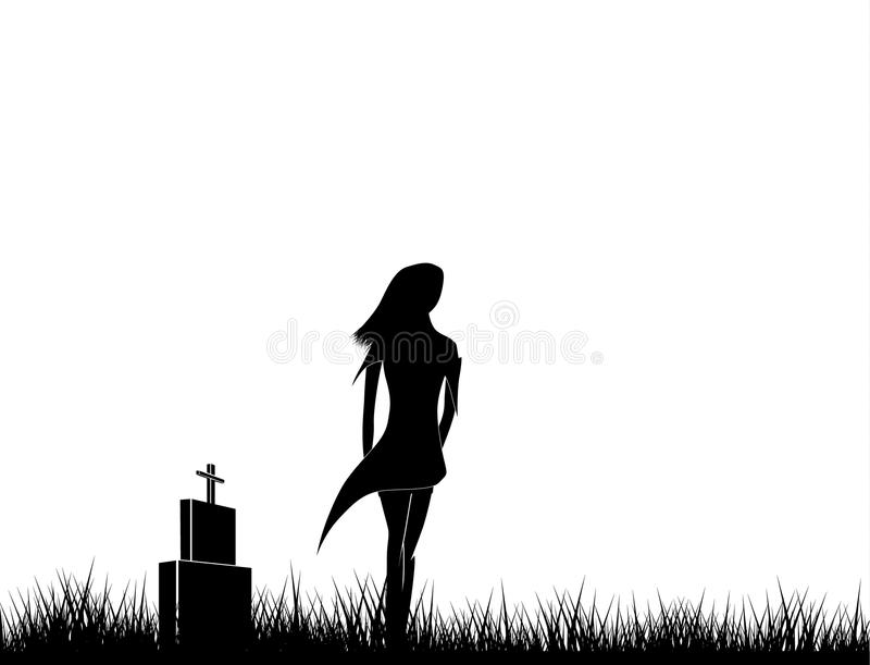 Dark witch silhouette royalty free stock image