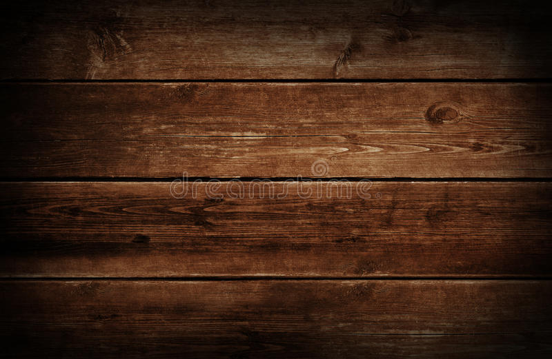 Dark Wood Background. With grunge weathered and aged brown wooden texture