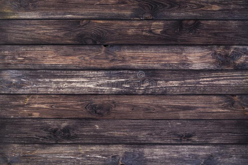 Dark wood background, old wooden texture stock photography