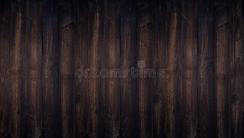 Dark wood background textured top view with empty space for back. Ground and design stock photo