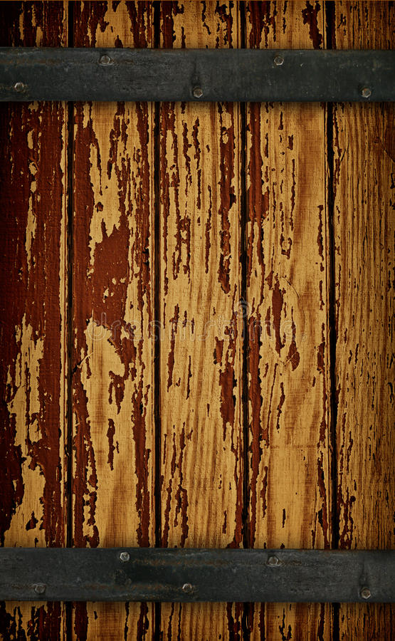 Free Dark Wood Barn Door Royalty Free Stock Image - 18447906