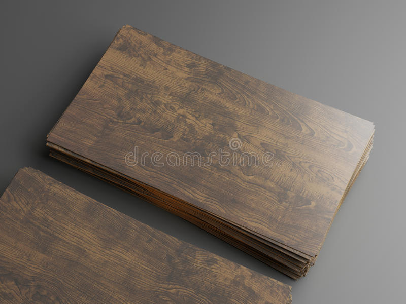 Dark wood business cards stock image. Image of note, background ...