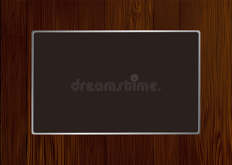 Dark wood frame stock vector. Illustration of illustration - 14446939