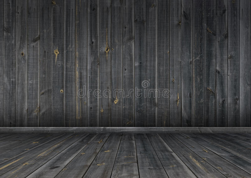 Download Dark Wood Wall And Floor, Background Texture Stock Illustration    Illustration Of Frame,