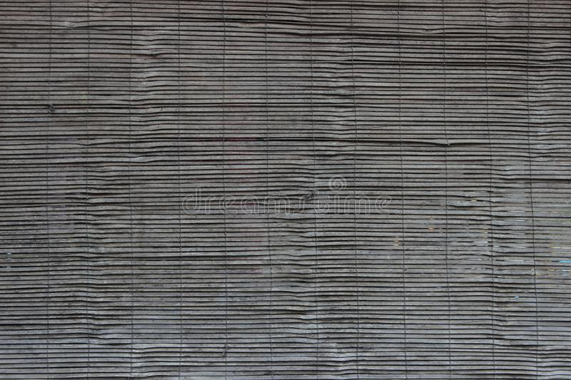 Dark wooden blinds texture royalty free stock photo