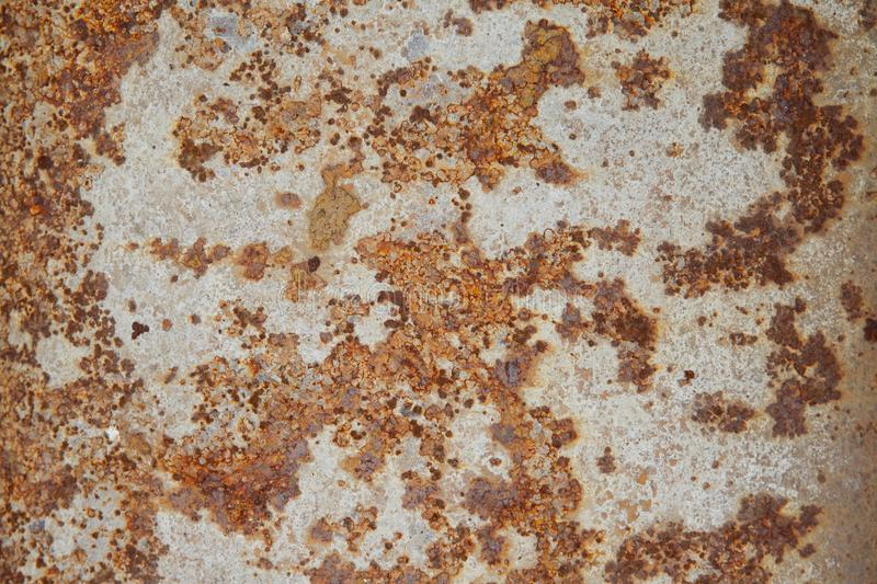 Dark Worn Rusty Metal Texture With White Paint Stock Photo Image