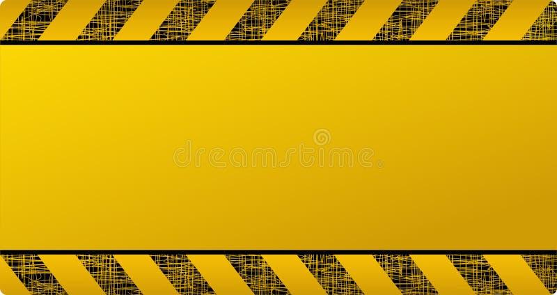 Dark Yellow Construction Background Stock Vector