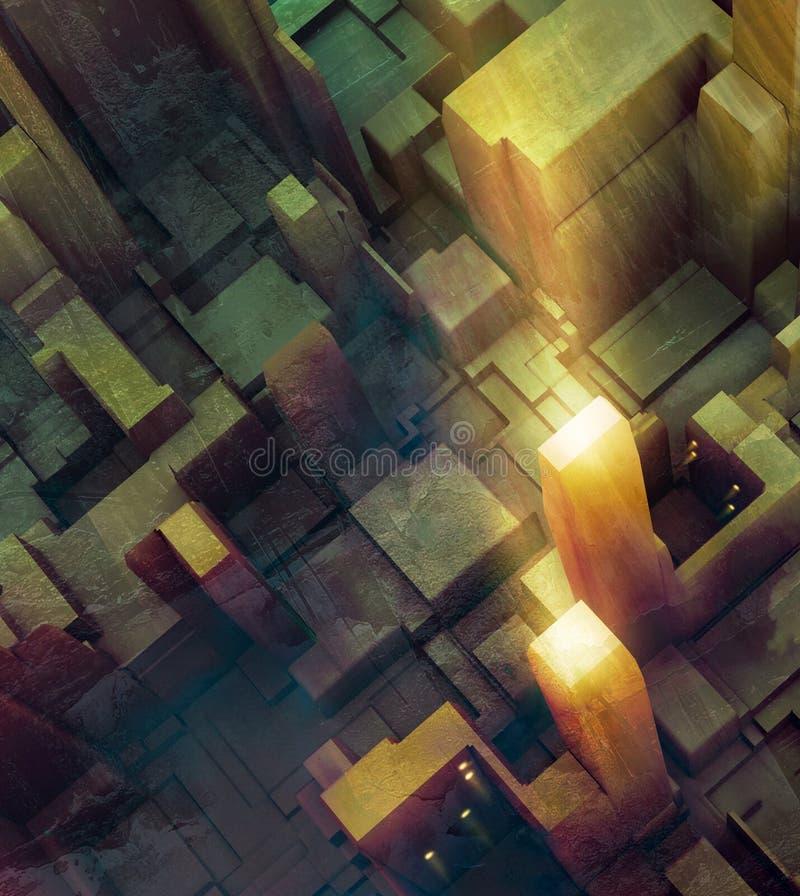 DarkCity stock de ilustración