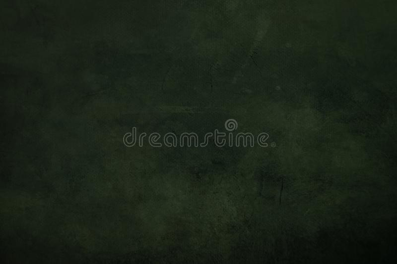 DArk green grungy canvas background. Or texture with dark vignette borders royalty free stock photography