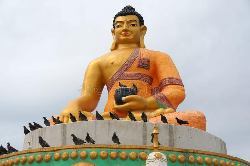 Mongolia Ulaanbaatar Buddhist monastery Gandan Darkhan royalty free stock image