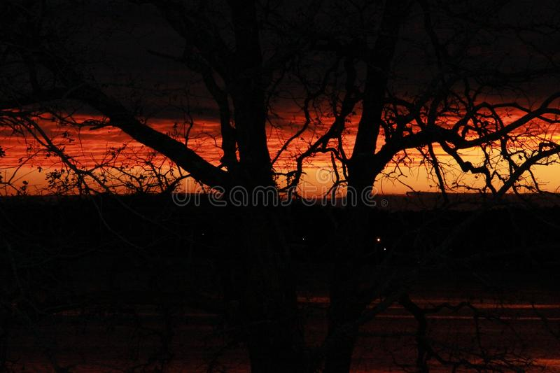 Darkness falls royalty free stock photography