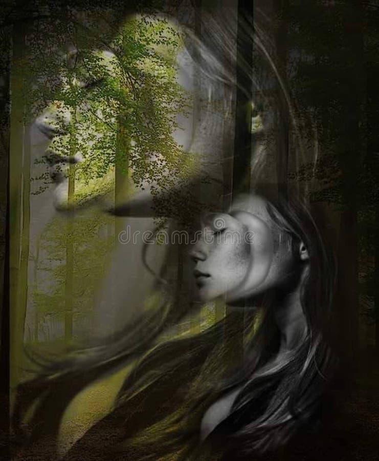 Darkness, Painting, Art, Tree Free Public Domain Cc0 Image