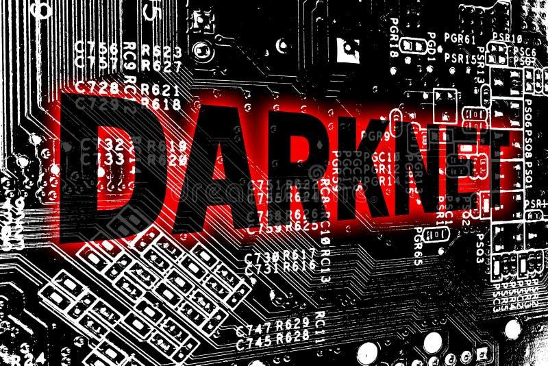 Darknet有电路板概念背景 库存图片