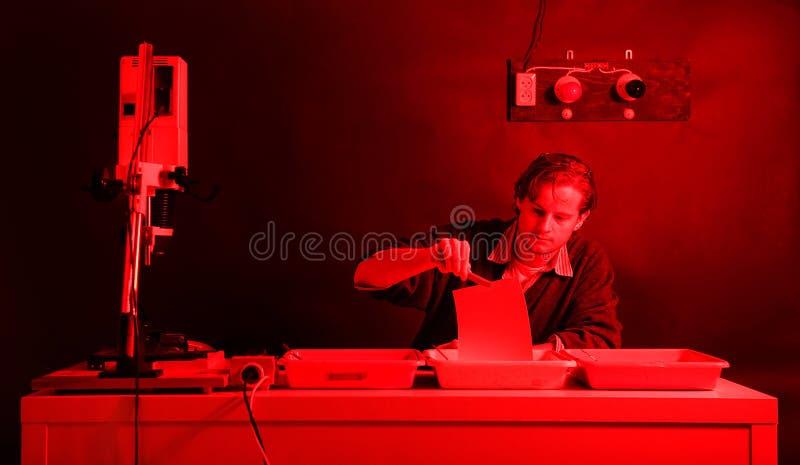 Darkroom laborant stock images