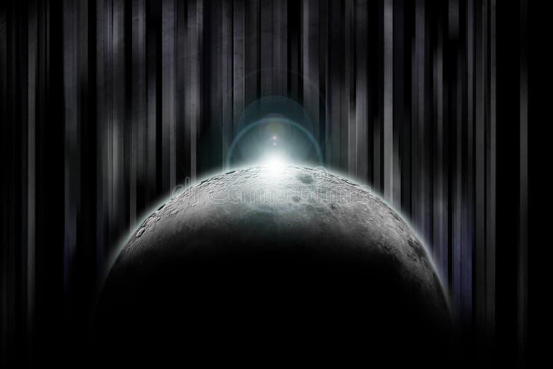 darkside月亮 免版税库存照片