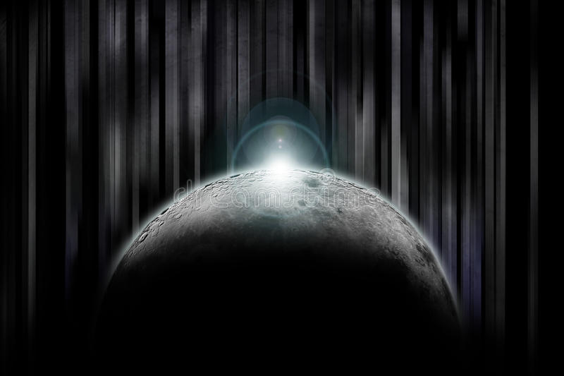 Darkside of the moon royalty free stock photo