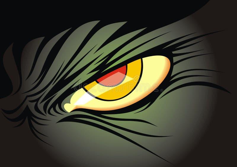 Darky żółty oko ilustracja wektor