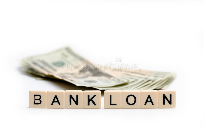 Darlehen von Kreditinstituten lizenzfreies stockbild