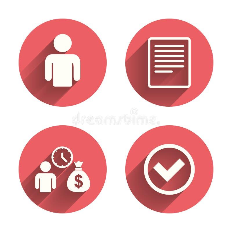 Darlehen- Von Kreditinstitutenikonen Füllen Sie Dokument Und ...