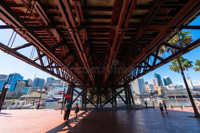Darling Bridge en Sydney fotografía de archivo