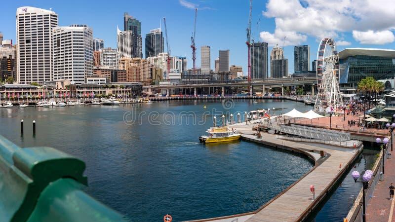 Darling Harbor, Sydney Australia stock foto's