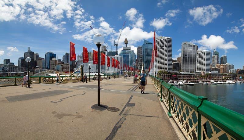 Darling Harbour bridge royalty free stock photos