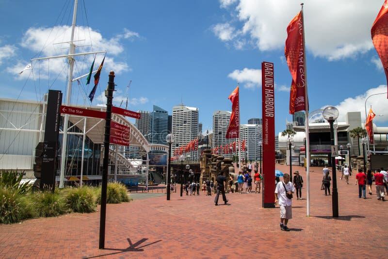 Darling Harbour de Sydney fotos de stock royalty free