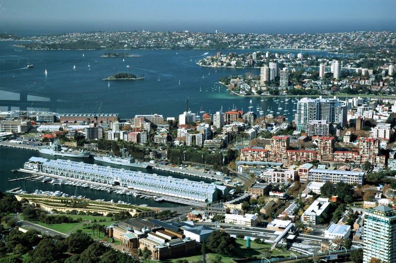Darling Harbour le côté d'Industiral images libres de droits
