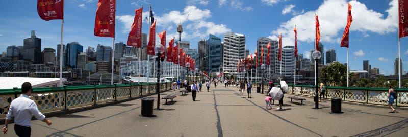Darling Harbour Panorama stock image