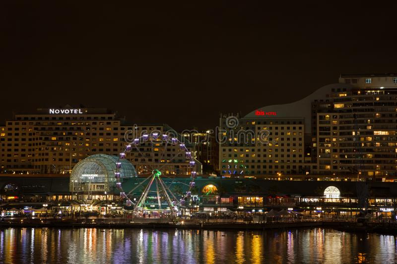 Darling Harbour, Sydney, at Night royalty free stock image