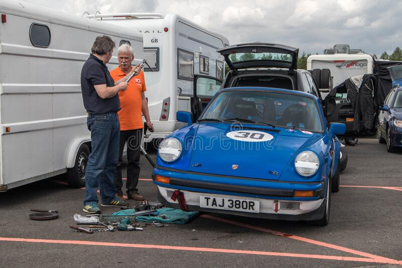 Classic Car Mechanic Garage Editorial Photography - Image ...