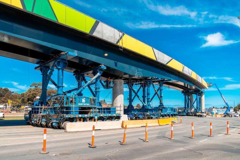 Darlington ` s Ayliffes路的桥梁设施 免版税库存图片