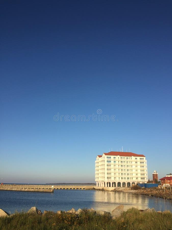 Darlowo Darlowko Poland, Marina hotel port entrance stock photos