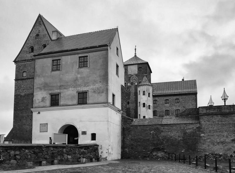 Darlowo Poland Castle landmark black and white royalty free stock photography