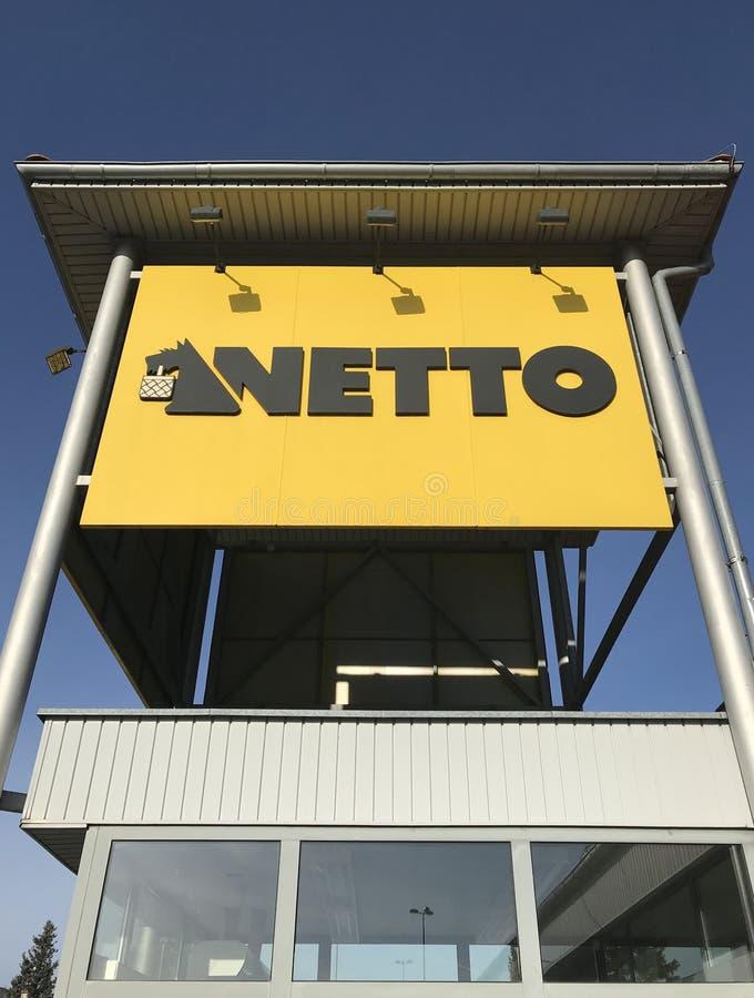 Netto supermarket in Darlowo Poland stock photos