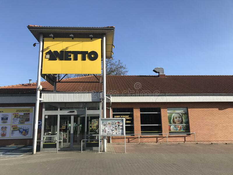 Netto supermarket in Darlowo Poland royalty free stock photography