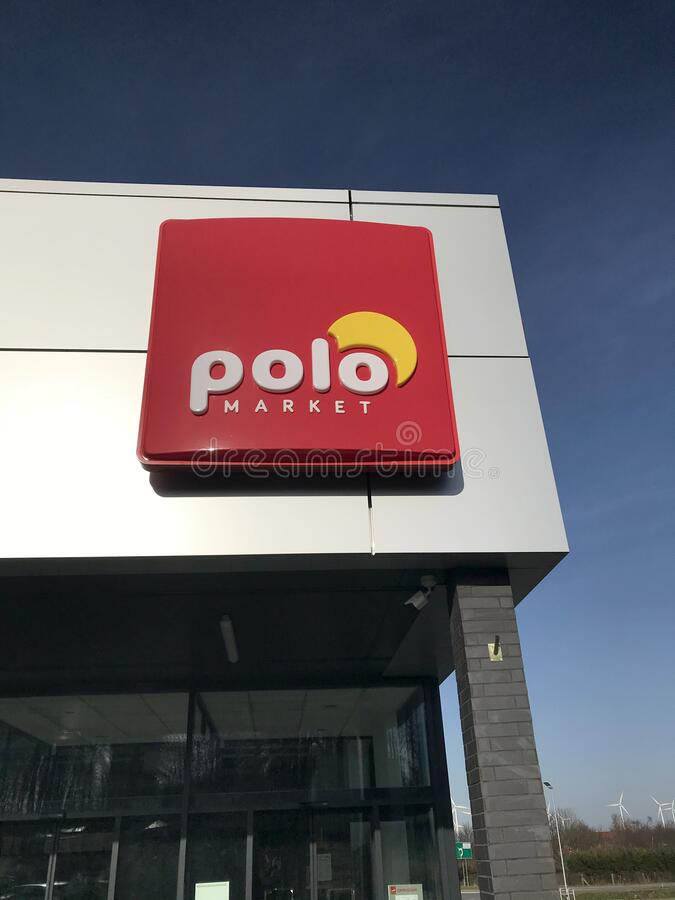 Polo supermarket in Darlowo Poland stock photography