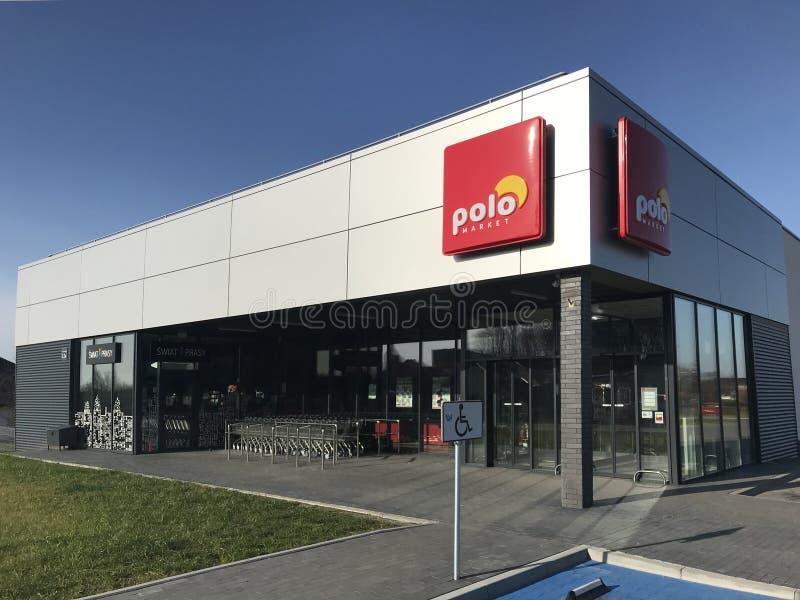 Polo supermarket in Darlowo Poland stock image