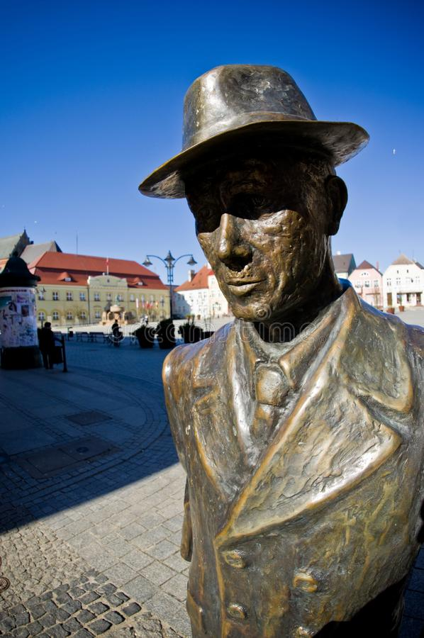 Darlowo, Poland - the town square wide angle fisheye image stock photography