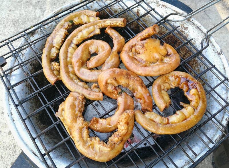 Darm-Schweinefleischgrill Asiatslebensmittel stockbild