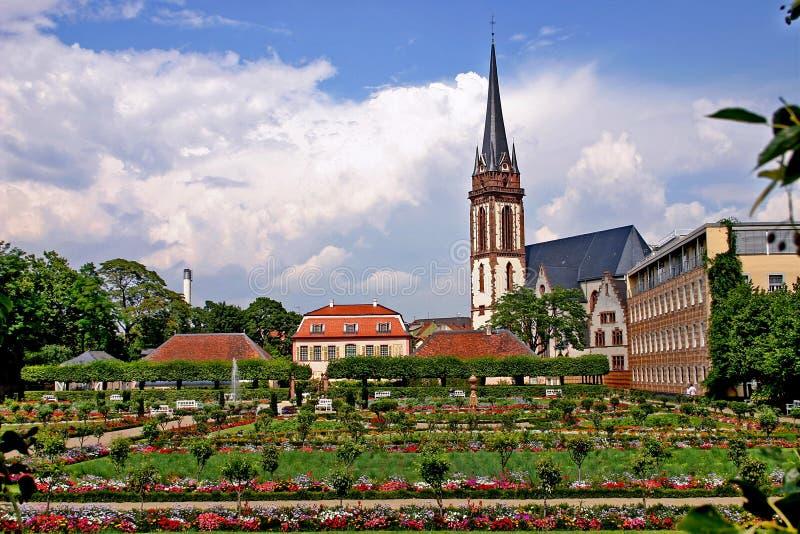 Darmstadt. Il giardino. fotografia stock