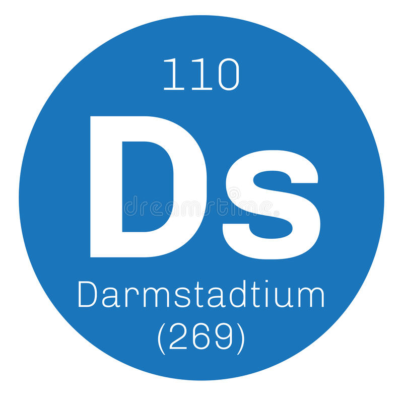 Darmstadtium chemisch element royalty-vrije illustratie