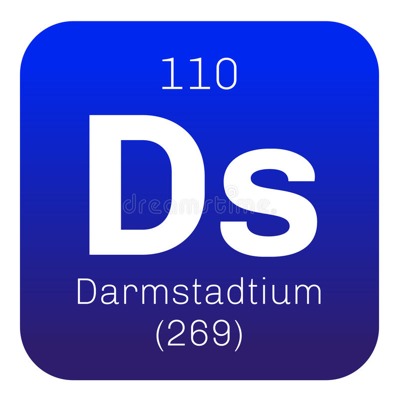 Darmstadtium chemisch element stock illustratie